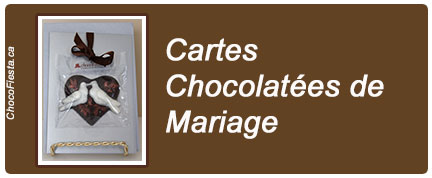 Collection Mariage: cartes chocolatées