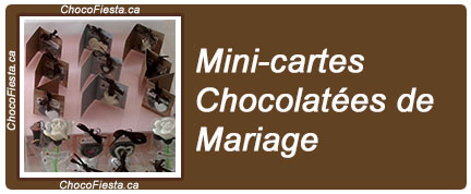 Collection Mariage: Mini-cartes chocolatées